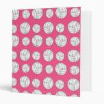Pink volleyballs pattern binder