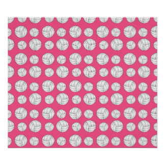 Pink volleyballs pattern posters