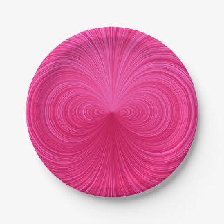 Pink Vortex Paper Plate