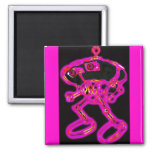 Pink Wacky Smacky RoBoT MagNEAT-O Refrigerator Magnets