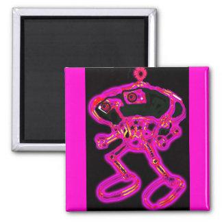 Pink Wacky Smacky RoBoT MagNEAT-O Refrigerator Magnets