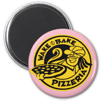Pink Wake and Bake by Mini Brothers Magnet