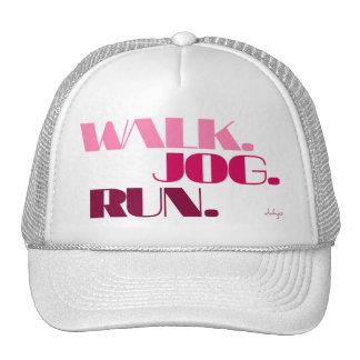 PINK WALK JOG RUN (font CHUNKY) Trucker Hat
