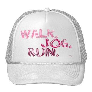 PINK WALK JOG RUN (font SCRIBBLE) Trucker Hat