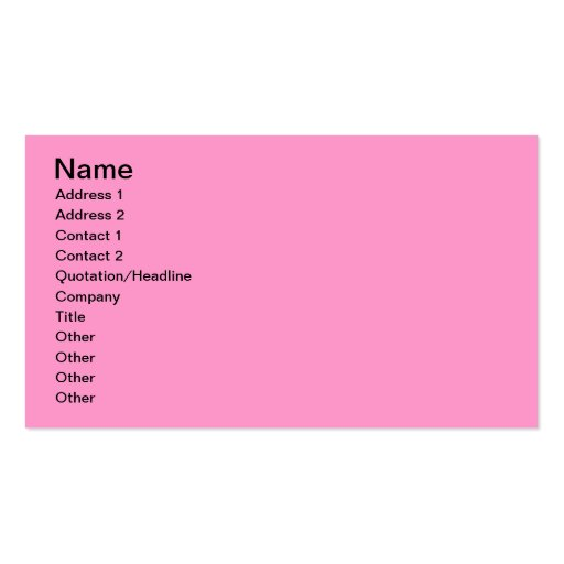Pink Wallpaper for Monogramming Double-Sided Standard Business Cards (Pack Of 100)