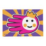 Hand shaped Pink Warrior Princess Placemat
