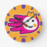Hand shaped Pink Warrior Princess Round Clock