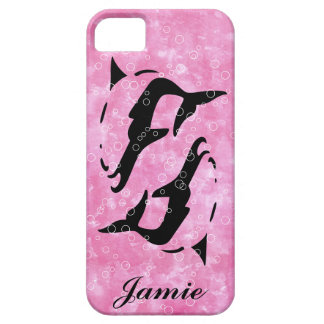 PINK water DOLPHIN  iphone covers iPhone 5 Case