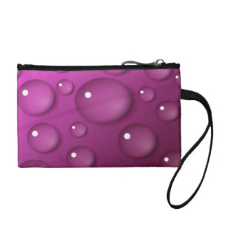 Pink Water Drop Background Coin Purse