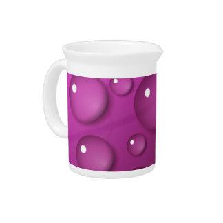 Pink Water Drop Background Drink Pitcher