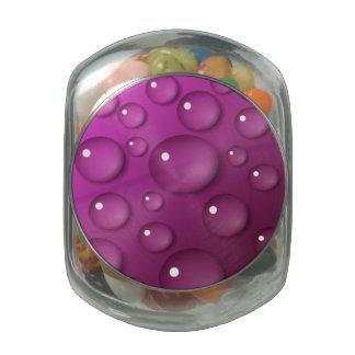 Pink Water Drop Background Glass Jar