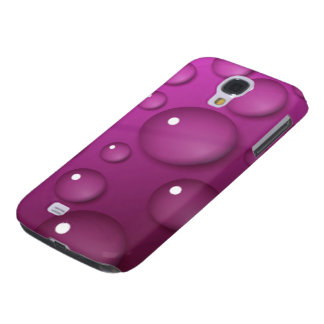 Pink Water Drop Background Samsung Galaxy S4 Cover