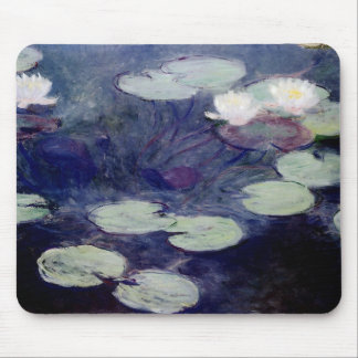 Pink Water-Lilies: 1897-99 by Monet Mouse Pad