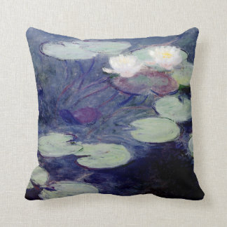 Pink Water-Lilies 1897-99 by Monet Throw Pillow