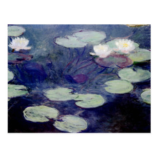 Pink Water-Lilies 1897-99 by Monet Postcards