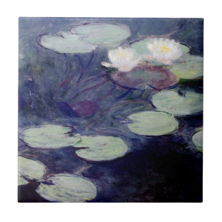 Pink Water-Lilies: 1897-99 by Monet Tile