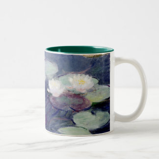 Pink Water-Lilies: 1897-99 by Monet Two-Tone Mug
