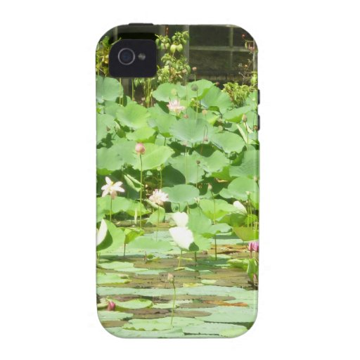 Pink Water Lilies Case-Mate iPhone 4 Cases