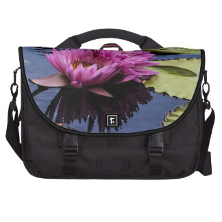 Pink Water Lilies Flower Photo Bags For Laptop
