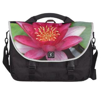 Pink Water Lilies Laptop Bag
