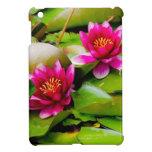 Pink Water Lilies Photograph iPad Mini Covers