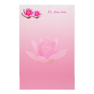 Pink Water Lilies Stationery