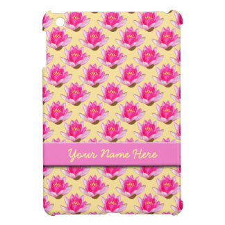 Pink Water Lilies Yellow Case For The iPad Mini