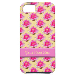 Pink Water Lilies Yellow iPhone SE/5/5s Case