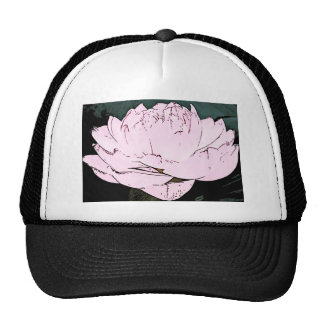 pink water lilly mesh hat