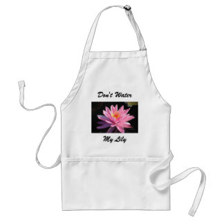 Pink Water Lily Adult Apron