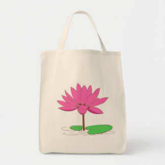 Pink Water Lily Bags