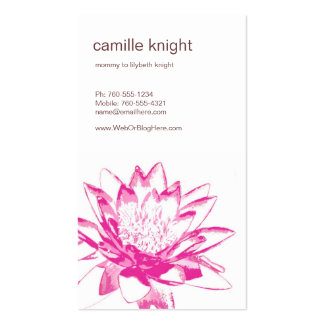 Pink Water Lily Calling Cards Double-Sided Standard Business Cards (Pack Of 100)