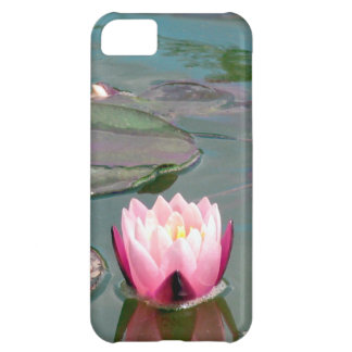 Pink water lily cover for iPhone 5C