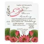 Pink Water Lily Evening Invitation