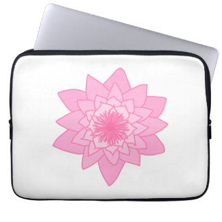 Pink Water Lily Flower Laptop Sleeves