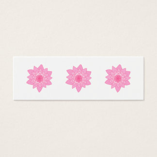 Pink Water Lily Flower. Mini Business Card