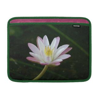 "Pink water lily flower, Photo 13"" MacBook Sleeve"