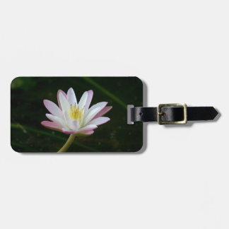 Pink water lily flower, Photo Luggage Tag