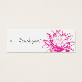 Pink Water Lily Gift Tags