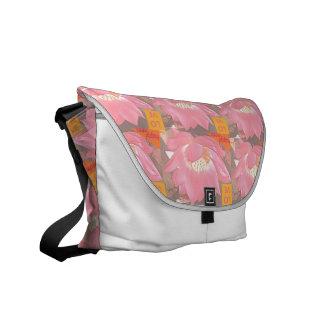 Pink water Lily inspirational shoulder bag Messenger Bags