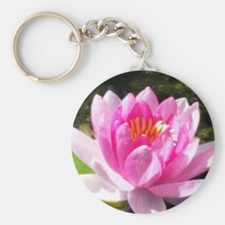 Pink Water Lily Keychain