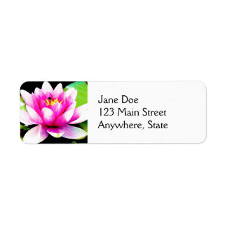 Pink water lily label