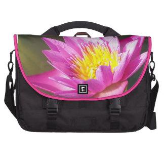 Pink Water Lily Laptop Bag