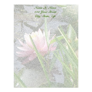 Pink Water Lily Letterhead