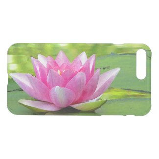 Pink Water Lily Lotus Flower iPhone 7 Plus Case