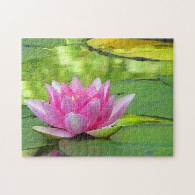Lotus Flower Jigsaw Puzzle Zazzlecom