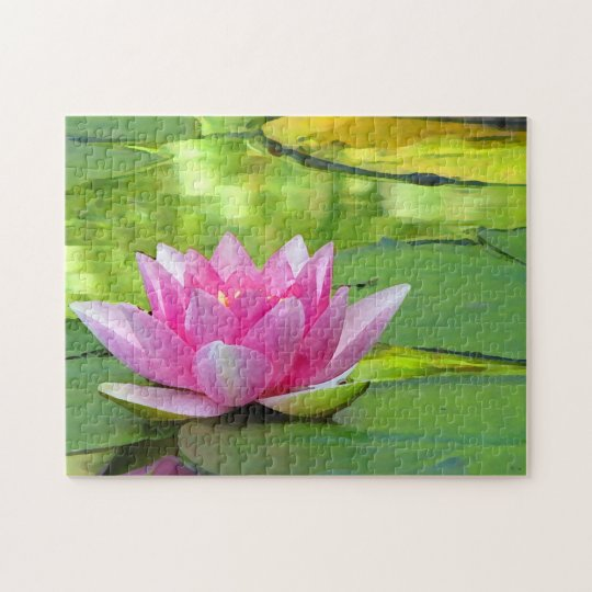 Pink Water Lily Lotus Flower Puzzle Zazzlecom