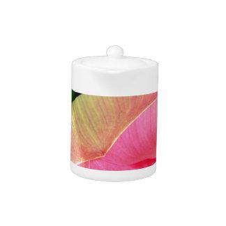 PInk Water Lily Lotus Teapot