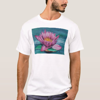 Pink Water Lily Mens Tshirt