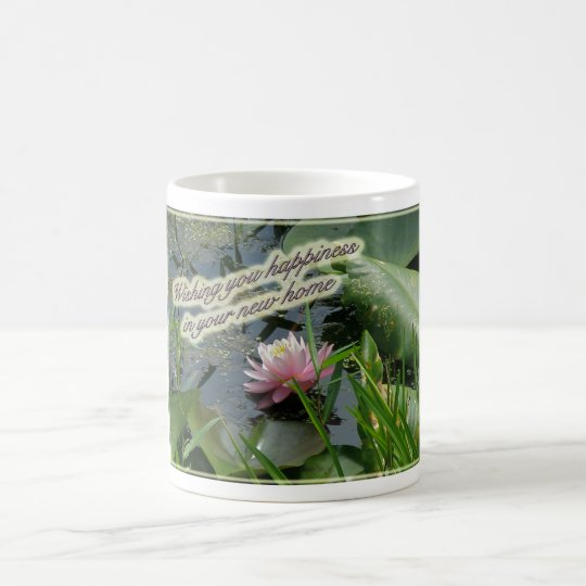 Pink Water Lily New Home Mug